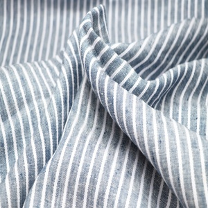 High Quality 100% linen fabric striped linen fabric for shirt