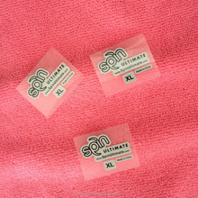 Iron on size heat transfer printing label for shirt neck