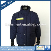 ZX OEM Refrigerator Freezer Wear Padded Jacket for Men Work in -30 Degrees Temperature