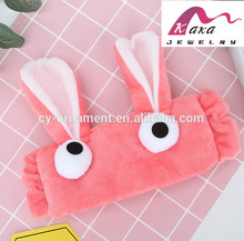 Cute fabric head wrap with long ear and big eyes for women
