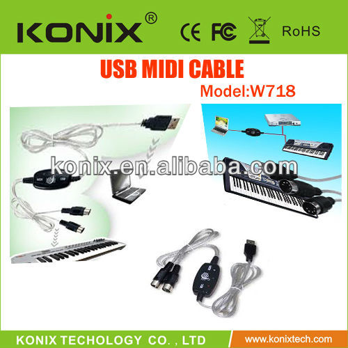 China Guitar Link Usb Manufacturers guitar link cable midi to usb Converter PC to Music Keyboard Adapter Audio Cables Connectors