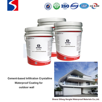 For outdoor&exterior wall waterproof Cement-based infiltration crystalline coating waterproofing construction material