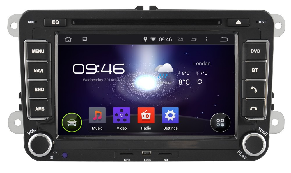 WITSON ANDROID 4.4 FOR VW POLO CAR VIDEO WITH 1080P 1G DDR BLUETOOTH GPS WIFI 3G GPS