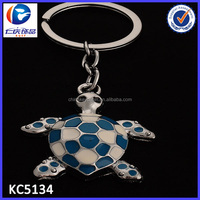 Personalized Animal Keychain Customized 3D Tortoise Shaped Metal Keyring