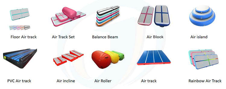Home Indoor Used Inflatable Gymnastics Tumble Air Floor Mats Trampoline Tumbling Air Block Air Track Board For Sale