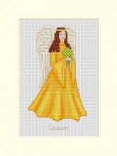 Angels of the Zodiac Card - Cancer Orange-Yellow