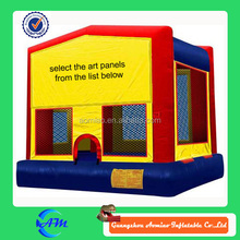 Use velcro cheap bouncy castle inflatable bouncy castle art panel bouncy house for sale