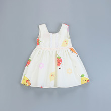 Baby Girl Summer Clothing Cotton Printed Dress for Kids