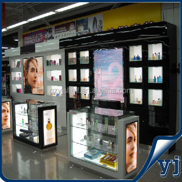 Elegant perfume display shelf/ cosmetic display rack for shop/display rack for boutiques