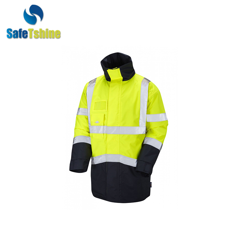 Windbreaker men custom windbreaker reflective hi vis security cycling jacket