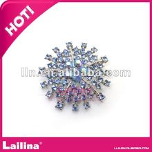 sparkle AB color light blue crystal cluster rhinestone wedding buttons