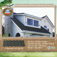 Modern Classic / wave metal roof tiles