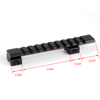 Tactical Hunting Gun Accessories Aluminum Alloy 10 Slots 125mm Length 11mm Dovetail to 20mm Rail Mount Adapter