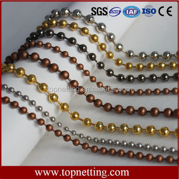 Wholesale custom color metal ball chain curtain
