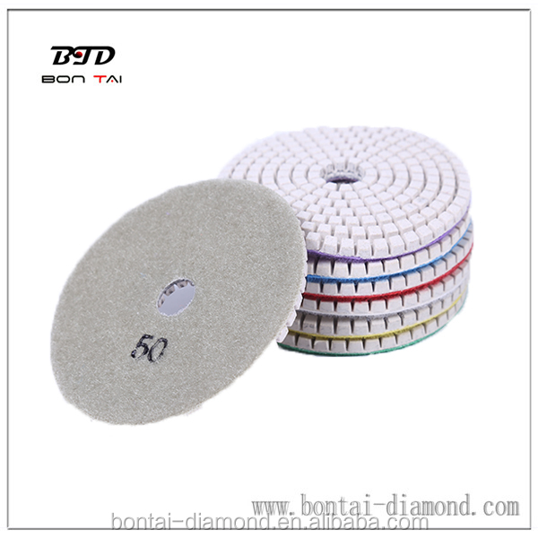 4inch Diamond Dry Resin Polishing pads Granite Marble Concrete Stone