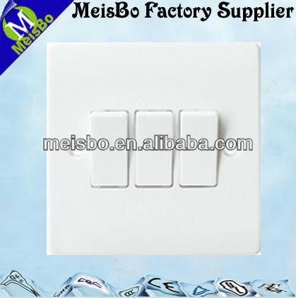 Good quality English rj45 socket wall face plate with three buttons