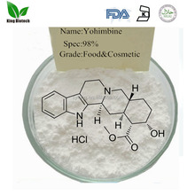 Pure herbs extract 8% ~98% yohimbine hcl powder for yohimb tree seed