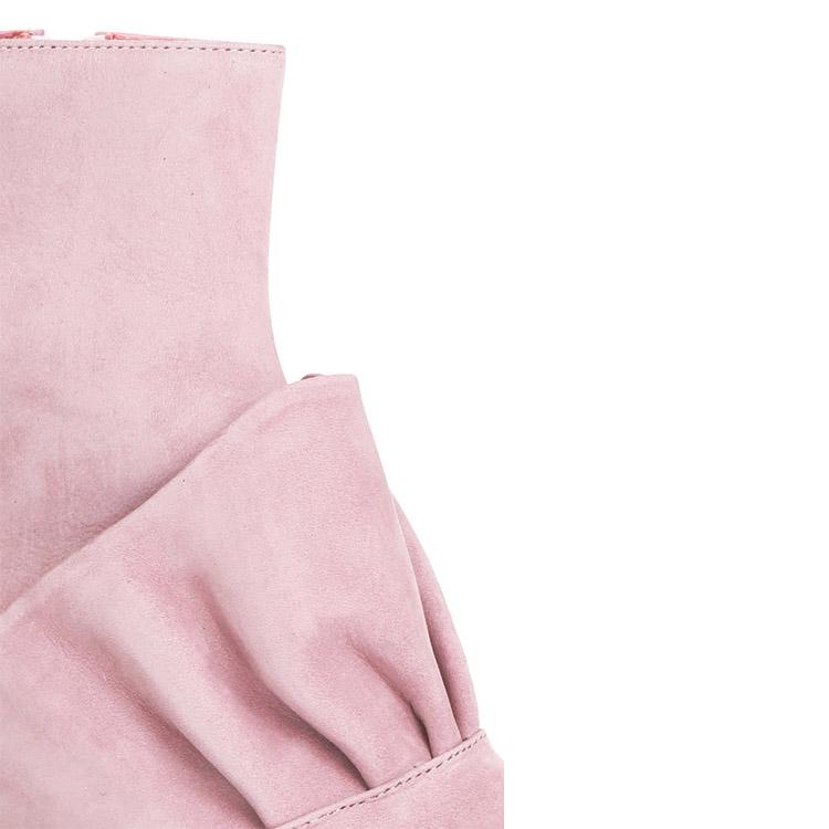 Sexy Nouveaux Modèles à la mode en gros bloc talon en cuir cheville femmes boot