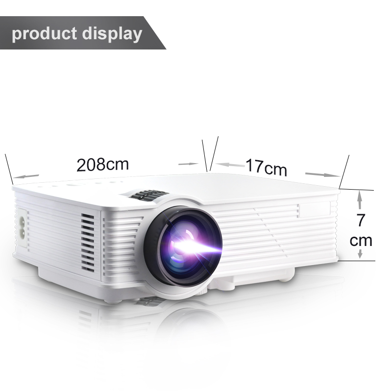 Cheap Mini Beamer for Multimedia Home Cinema Theater 1000 Lumens Projector with Dual Band Wi-Fi 2.4G/5G,Quad Core Android 4.4 OS