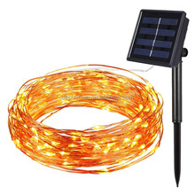 20m 200led Festival Christmas Wedding Outdoor Solar Panel String Light for Home Park Garden Decoration