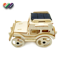 Running Car Puzzle Educational Solar Power Toy for Kids