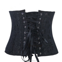 4 double Double Steel Boned Waist Training Brocade Underbust Shaper Corset