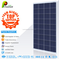 Powerwell Solar 150 watt polycrystalline solar panel with CEC/IEC/TUV/ISO/INMETRO/CE certifications