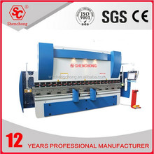 carbon steel WC67Y hydraulic bending machine table crowning