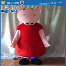 Pink dinosaur popular tv show barney famous children cartoon character high quality custom mascot costume