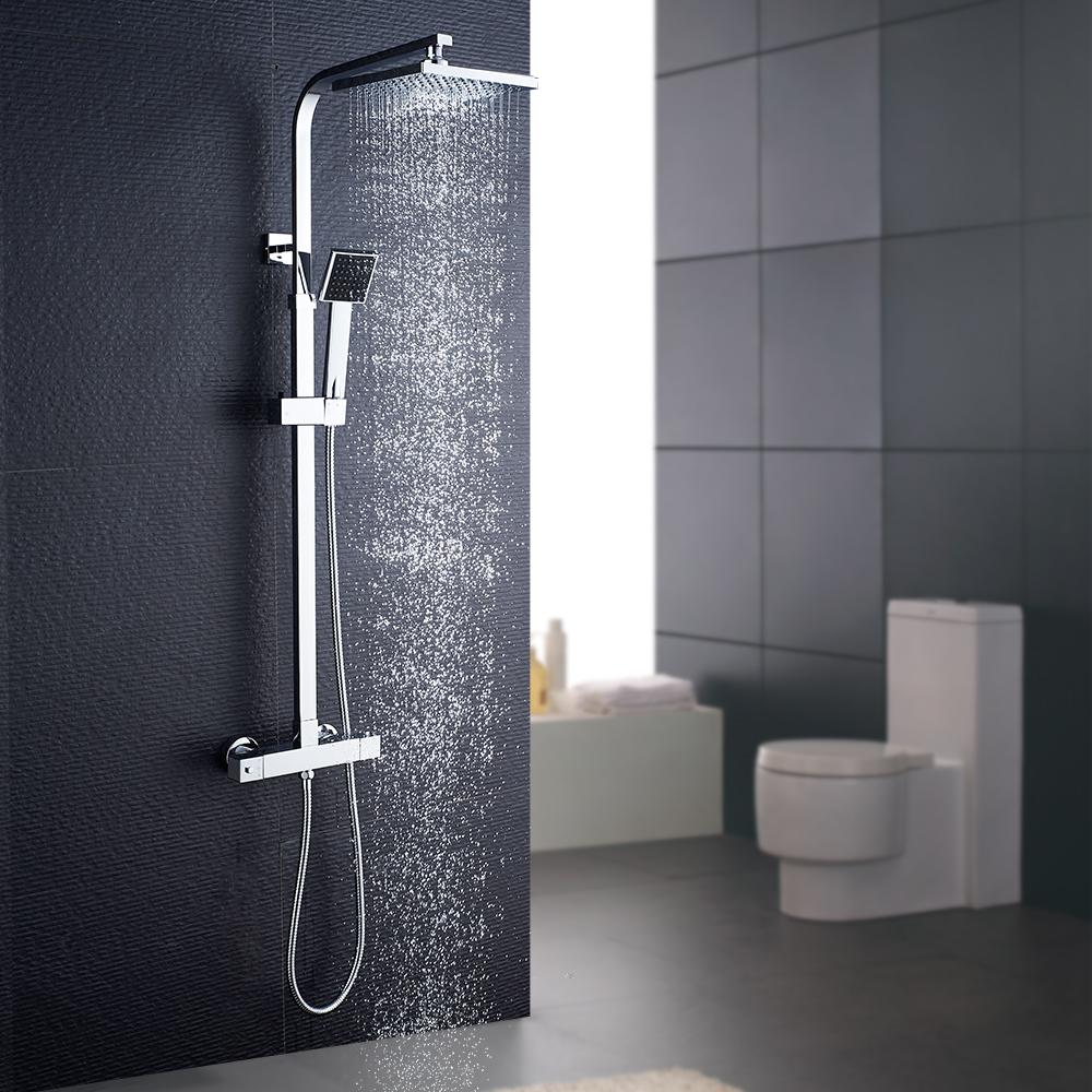 Multi-function Wall-mounted thermostatic bathroom rain shower set