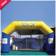 Good Quality PU Fabric Inflatable Finish Line Arch for Advertising