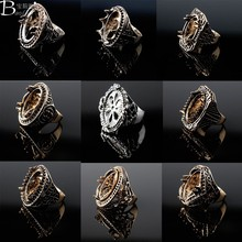 Best Price Multi Colorful Titanium Silver Alloy Indonesia Men Titanium Rings For Gemstone