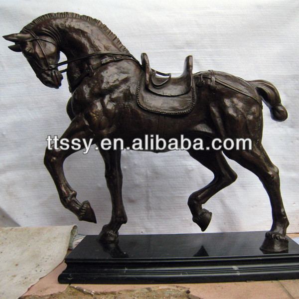 Bronze cast horse metal sculpture