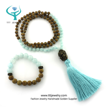 Buddha Mayan Prayer Cheap Buddhist Blessed Count Mala 108 Beads Necklaces of Wooden Beads Handmade Designer Set