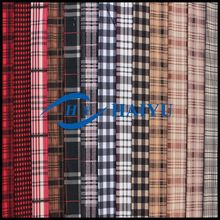 100% polyester plaid cotton imitation velvet fabric/imitation cotton fabric for garments
