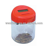 Mini Coin Counter/Coin Jar Coin Counting Machine for EURO
