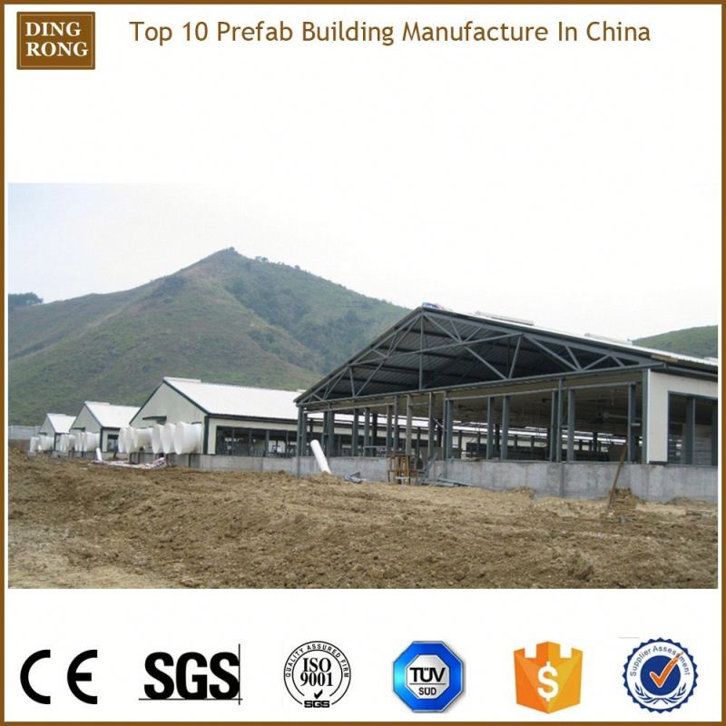 prefab building steel structure, metal panel for poultry shed
