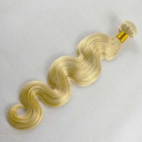 Brazilian hair weaving good quality blonde brazilian hair weft