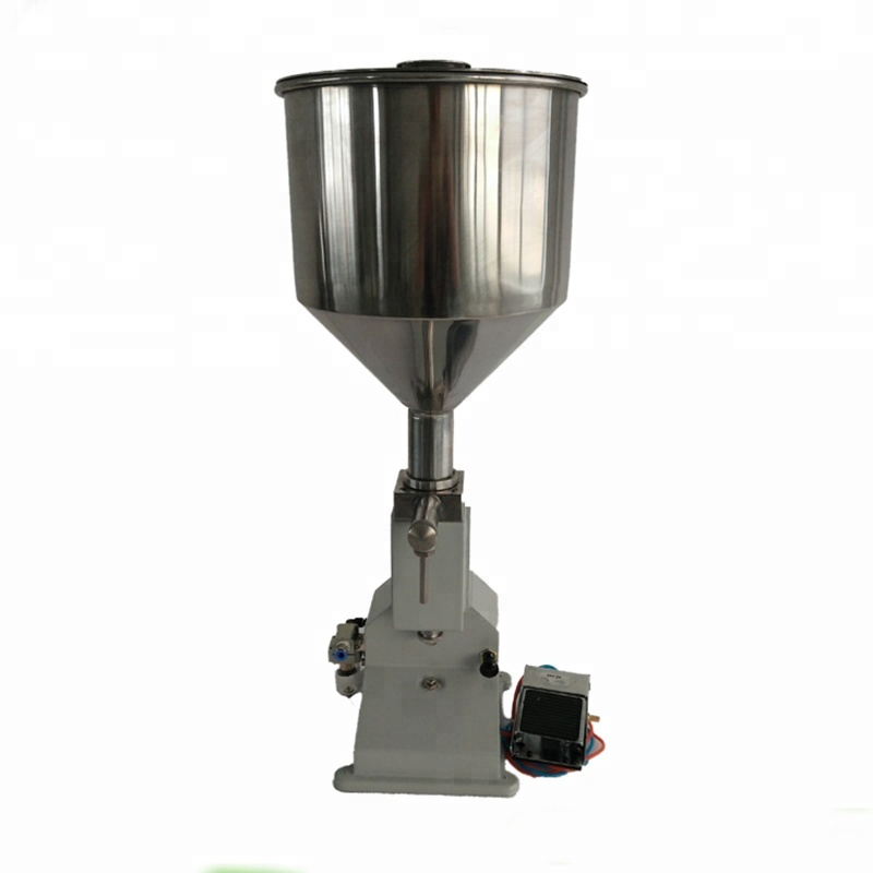 Guangzhou Factory <strong>A02</strong> Pneumatic 5-50 ml Manual Soap Liquid Filling Machine,Small Dose Paste liquid filling machine,Piston filler