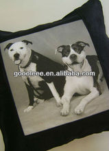 Natural color dog picture top quality digital printing cushioning