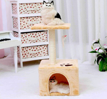 Pet Toys Type and Cats Application corrugated cardboard cat scratcher with house
