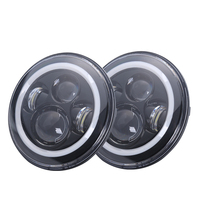 DOT E9 Approval 7 Inch Round LED Headlight RGB Halo For Jeep Wrangler Bluetooth Phone APP Control Jeep Headlights