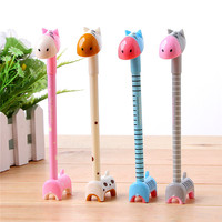 Low cost cute korean stationery ,high quality advertisement stationery animals ballpoint pen from china stationery market