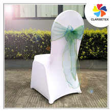 Cheap Green organza sheer chair sashes for wedding decoration
