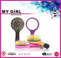 MY GIRL hair brush factory new design beauty star hair straightener brush hair straightening brush as seen on tv