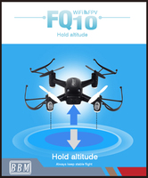 FQ10 2016 wifi toy drone with 720P hd camera