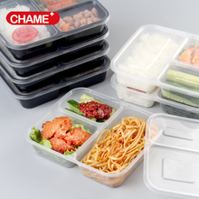 Hot selling meal prep containers cheap 3 compartment plastic food container set