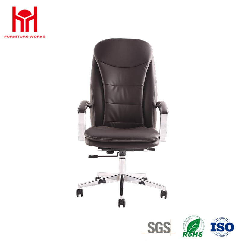 Fashionable Appearance Imported High-Quality Leather High Back Chair