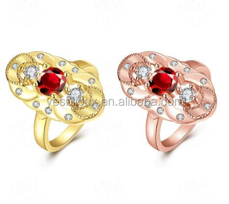 Latest Gold Plated AAA Zirconia Rings Factory Directly Wholesale