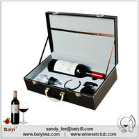 Wholesale Unique 1 Bottle Leather Wine Carrier Case